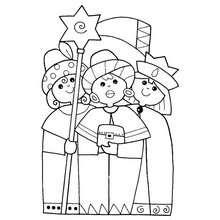 Dibujo para colorear gaspar y los reyes magos - Dibujos para Colorear y Pintar - Dibujos para colorear FIESTAS - Dibujos para colorear de NAVIDAD - Dibujos para colorear de los REYES MAGOS de Navidad - Colorear GASPAR