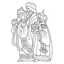 Dibujo para colorear : melchor y los reyes magos