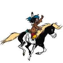 Dibujo Yakari caballo