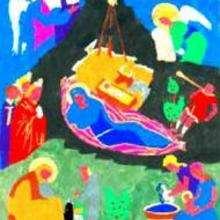 Ilustración : Dibujo infantil Navidad NATIVIDAD