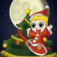 Ilustración : Dibujo Navidad DISFRAZ PAPA NOEL