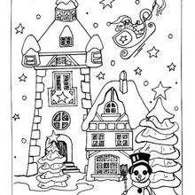 Dibujo para colorear : Noche del 24 de diciembre