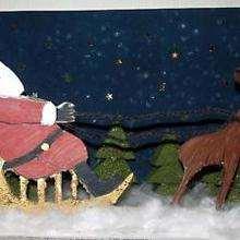 Dibujo infantil Navidad TRINEO PAPA NOEL
