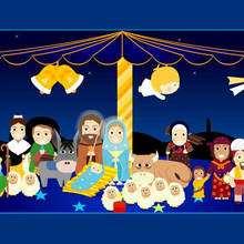 Fondo de pantalla : Fondo de Navidad BELEN DIBUJO