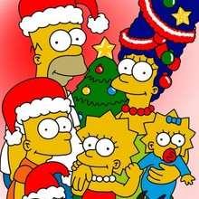 Fondo de Navidad familia SIMPSON - Dibujar Dibujos - Dibujos para DESCARGAR - FONDOS GRATIS - Fondos NAVIDAD - Fondos navideños GRATIS