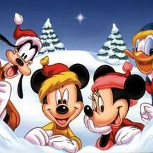 Fondo de Navidad MINNIE
