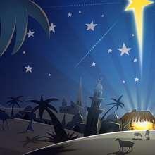 Fondo de Navidad PORTAL DE BELEN