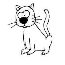 Dibujo del gato FELIX - Dibujos para Colorear y Pintar - Dibujos para colorear ANIMALES - Dibujos GATOS para colorear - Dibujos para colorear GATO CALLEJERO