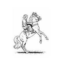 Dibujo destreza caballo - Dibujos para Colorear y Pintar - Dibujos para colorear DEPORTES - Dibujos de EQUITACION para colorear - Dibujos para pintar CENTRO ECUESTRE