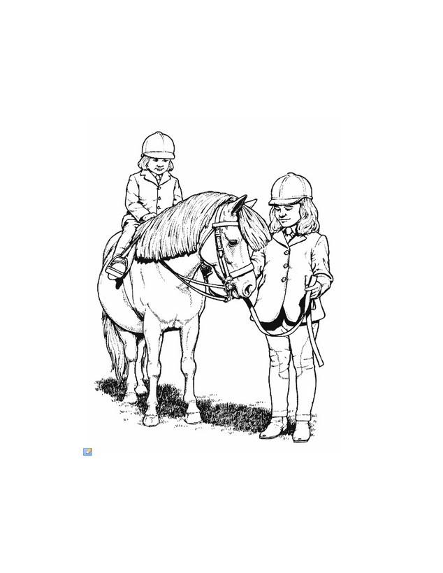 Dibujos para colorear caballo equitación - es.hellokids.com