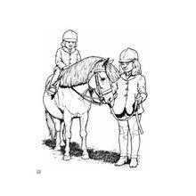 Dibujo caballo equitación - Dibujos para Colorear y Pintar - Dibujos para colorear DEPORTES - Dibujos de EQUITACION para colorear - Dibujos de HIPICA para pintar