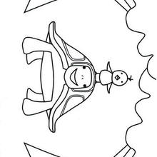 Dibujo para colorear : tortuga sonriendo