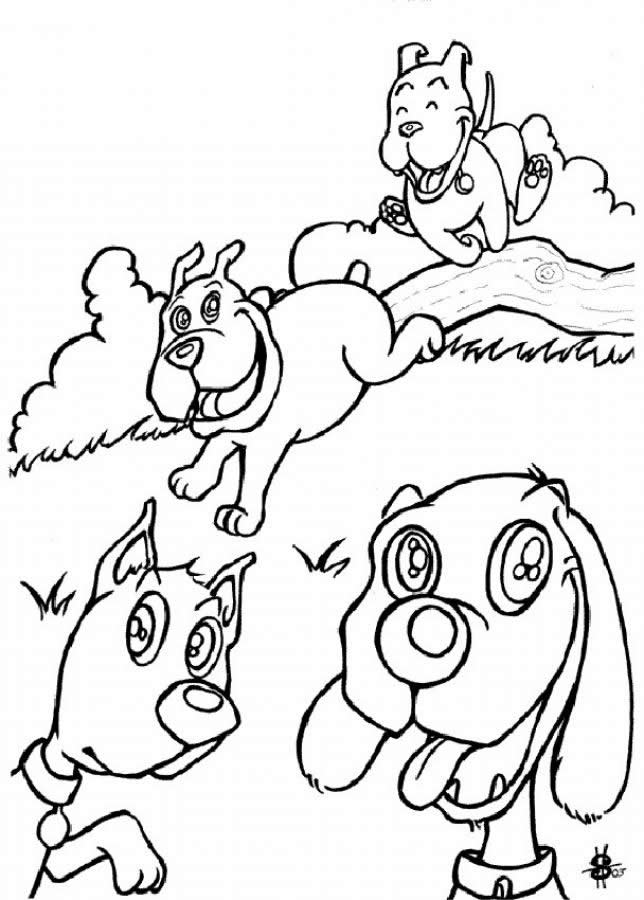 Dibujos para colorear perro y gato catastrofe - es.hellokids.com