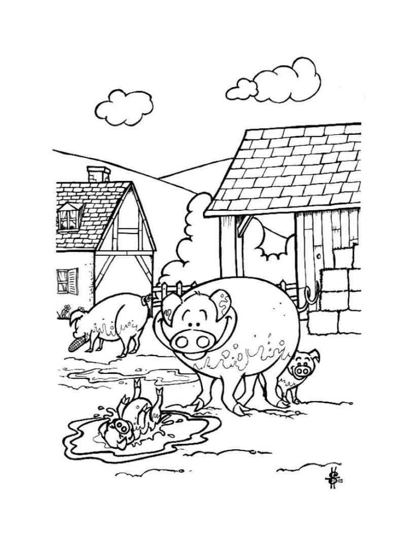 Dibujos ANIMALES DE GRANJA para colorear - 41 dibujos de animales ...