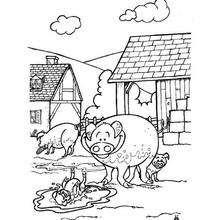 Marranos - Dibujos para Colorear y Pintar - Dibujos para colorear ANIMALES - Dibujos ANIMALES DE GRANJA para colorear - Colorear MARRANOS