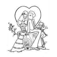 Enamorados - Dibujos para Colorear y Pintar - Dibujos para colorear FIESTAS - Dibujos para colorear SAN VALENTIN - Dibujos para colorear DIA DE SAN VALENTIN