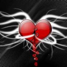 Fondo de pantalla : Corazón ardiente