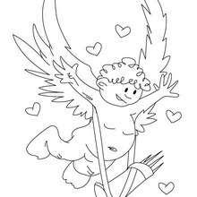 Dibujo para colorear FLECHAZO DE CUPIDO - Dibujos para Colorear y Pintar - Dibujos para colorear FIESTAS - Dibujos para colorear SAN VALENTIN - Dibujo para colorear CUPIDO EL ANGEL DEL AMOR