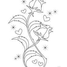 Dibujo para colorear FLOR SAN VALENTIN - Dibujos para Colorear y Pintar - Dibujos para colorear FIESTAS - Dibujos para colorear SAN VALENTIN - Dibujo para colorear SAN VALENTIN gratis