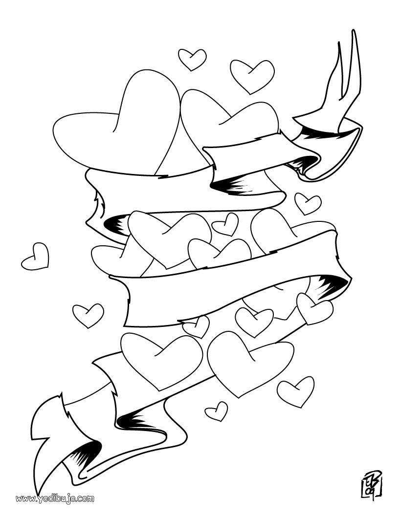 Dibujos para colorear AMOR - Dibujos para colorear DIA DE SAN VALENTIN