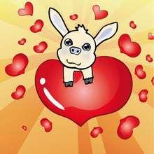 Dibujo san valentin COCHELIN - Dibujar Dibujos - Dibujos infantiles para IMPRIMIR - Dibujos de SAN VALENTIN para imprimir