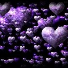 Fondo de pantalla : Nubes de corazones