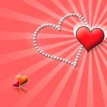 Fondo de pantalla : Corazón y perlas