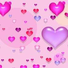 Fondo de pantalla : Búrbujas de corazón