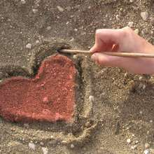 Fondo de pantalla : Corazón rojo
