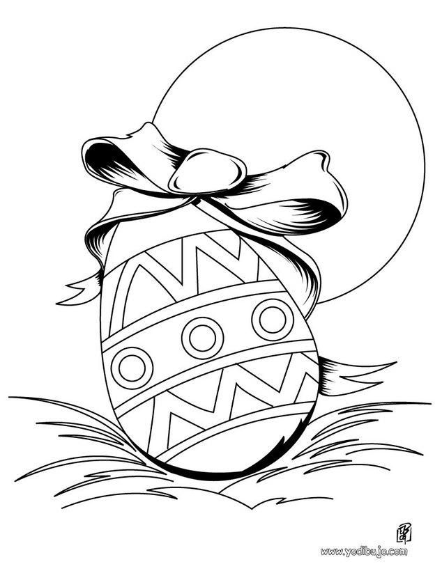 Dibujos para colorear conejo y huevo de chocolate - es.hellokids.com