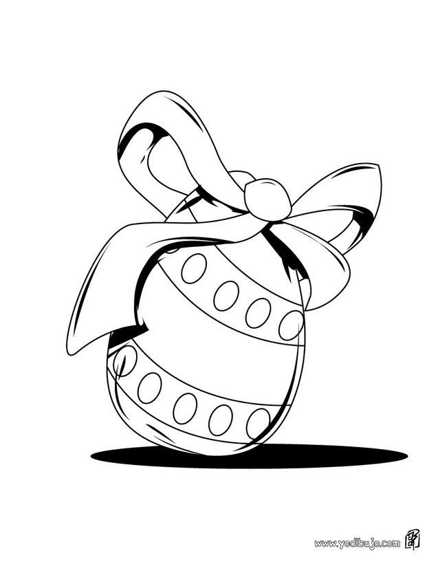 Dibujos para colorear HUEVOS DE PASCUA, Huevo Delicioso para imprimir