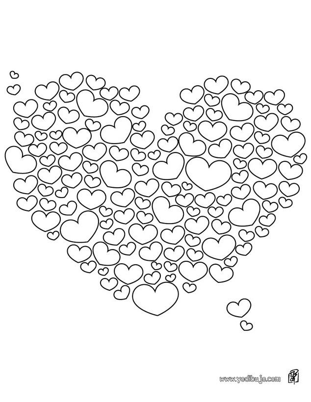 Dibujos para colorear 1000 corazones - es.hellokids.com