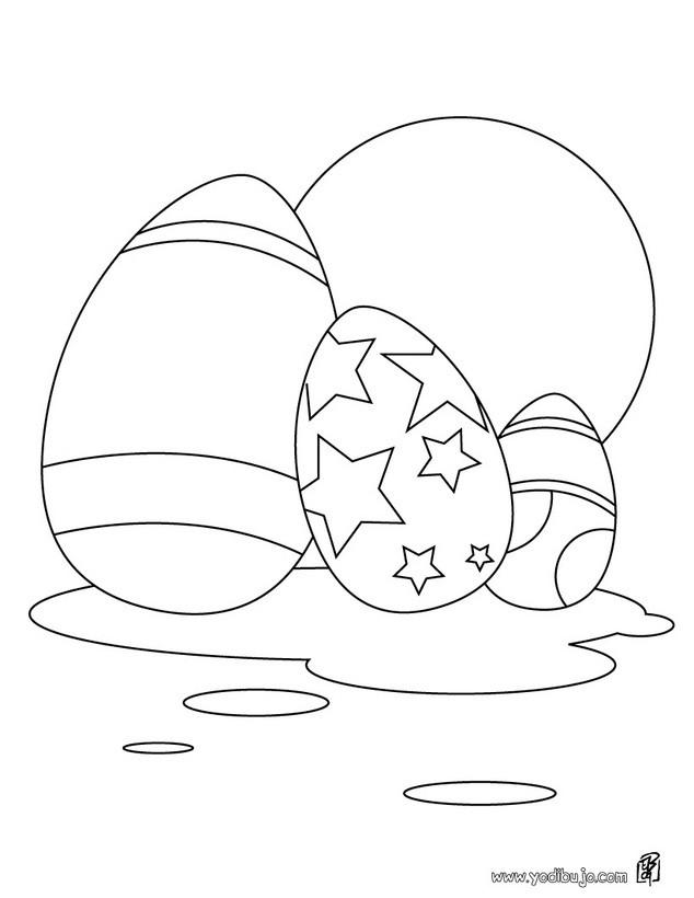 Dibujos Para Colorear Surtido De Huevos De Chocolate Es