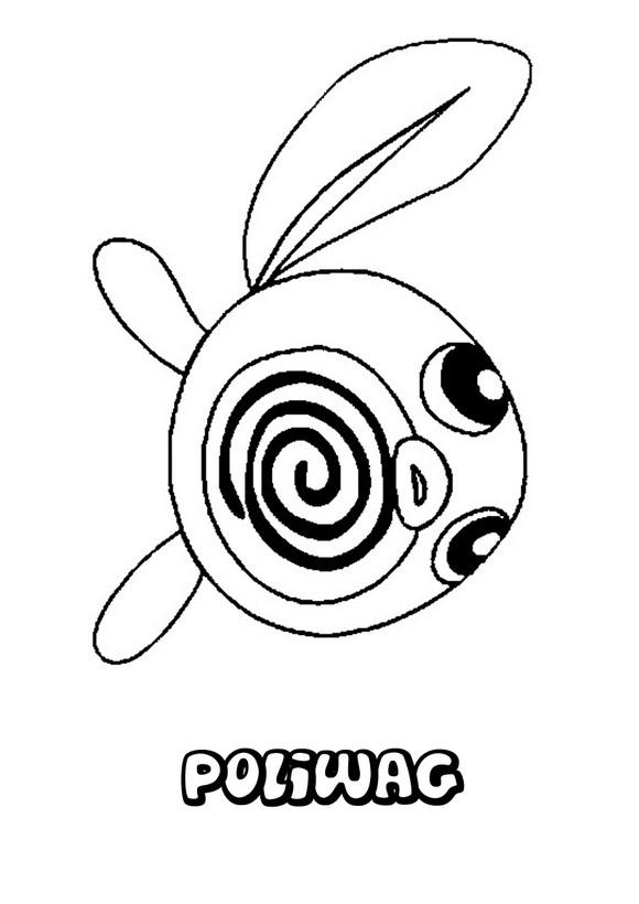 Dibujos para colorear pokemon poliwag - es.hellokids.com