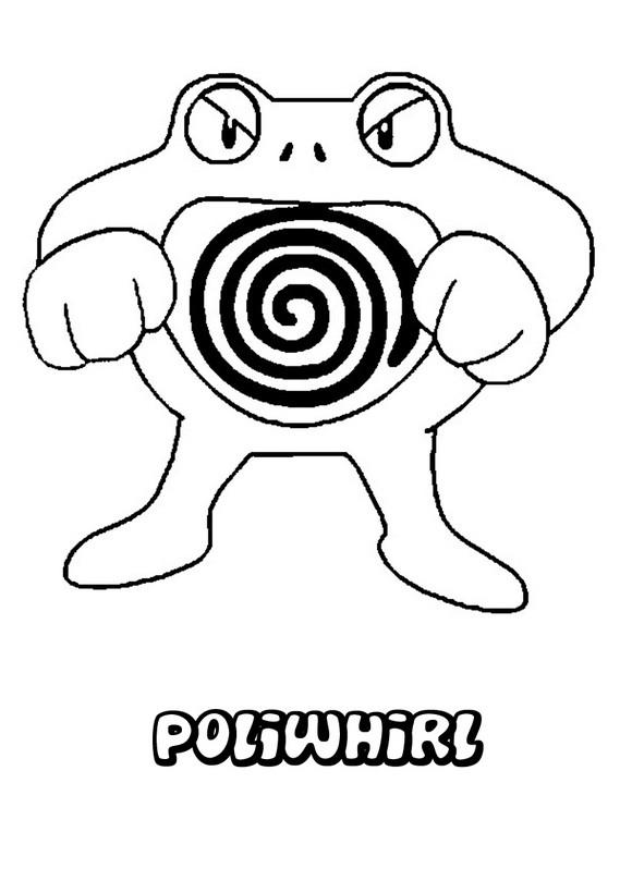 Dibujos para colorear pokemon poliwhirl - es.hellokids.com