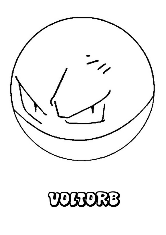 Dibujos para colorear POKEMON - Pokemon Voltorb