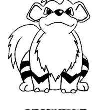 Dibujo Pokemon Growlithe - Dibujos para Colorear y Pintar - Dibujos para colorear MANGA - Dibujos para colorear POKEMON - Dibujos para colorear POKEMON FUEGO