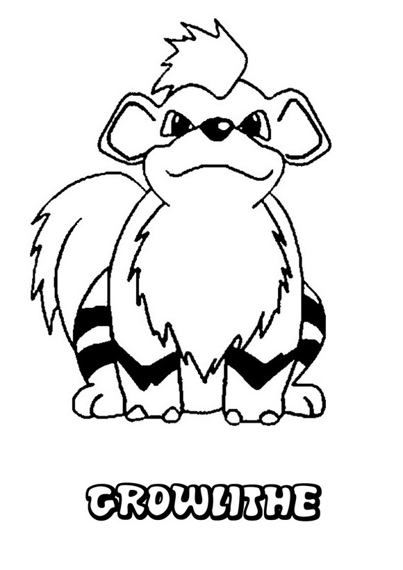 Dibujos para colorear pokemon growlithe - es.hellokids.com
