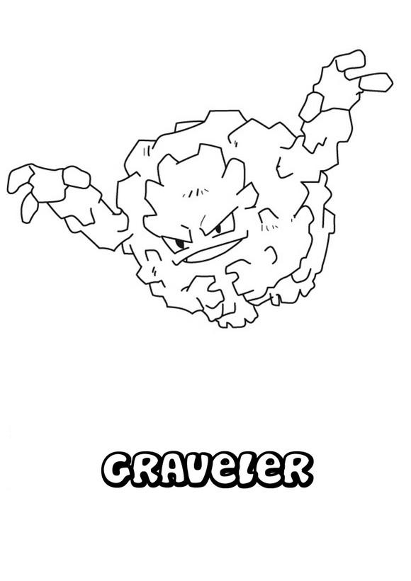 Dibujo para colorear : Pokemon Graveler