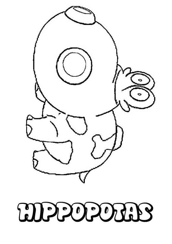 dibujo Pokemon Hippopotas - Dibujos para colorear POKEMON TIERRA