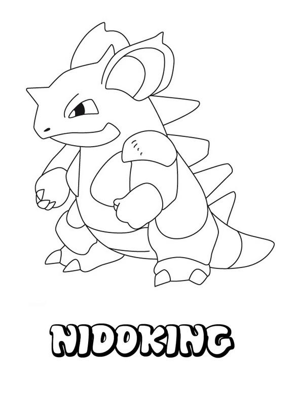 Dibujos Para Colorear Pokemon Nidoking