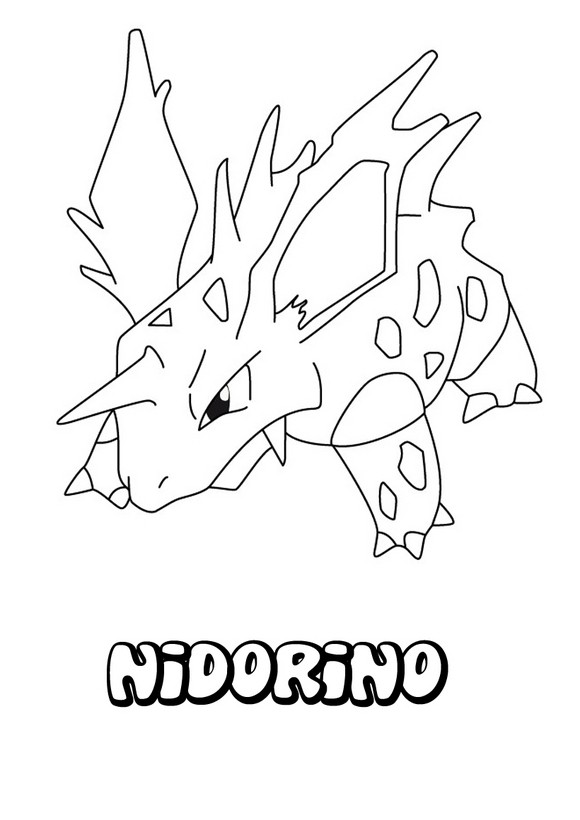 Dibujos para colorear pokemon nidorino