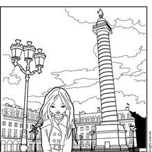 Dibujo para colorear JEANNE POESIE VENDOME - Dibujos para Colorear y Pintar - Dibujos para colorear PERSONAJES - Dibujos para colorear y pintar PERSONAJES - MUSEWORLD para colorear - Dibujos para colorear JEANNE POESIE EN PARIS