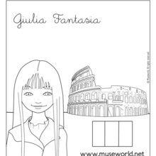 Dibujo para colorear GIULIA EN ROMA - Dibujos para Colorear y Pintar - Dibujos para colorear PERSONAJES - Dibujos para colorear y pintar PERSONAJES - MUSEWORLD para colorear - Dibujos para colorear GIULIA FANTASIA EN ROMA