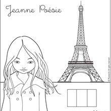 Dibujo para colorear JEANNE POESIE EN PARIS - Dibujos para Colorear y Pintar - Dibujos para colorear PERSONAJES - Dibujos para colorear y pintar PERSONAJES - MUSEWORLD para colorear - Dibujos para colorear JEANNE POESIE EN PARIS