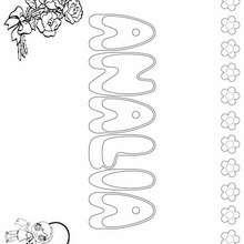 ANALIA colorear nombre niña - Dibujos para Colorear y Pintar - Dibujos para colorear NOMBRES - Dibujos para colorear NOMBRES NIÑAS