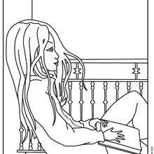 Dibujo para colorear JEANNE POESIE LEYENDO - Dibujos para Colorear y Pintar - Dibujos para colorear PERSONAJES - Dibujos para colorear y pintar PERSONAJES - MUSEWORLD para colorear - Dibujos para colorear JEANNE POESIE EN PARIS