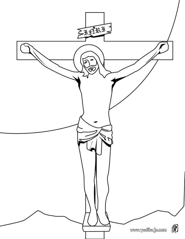 Dibujos para colorear crucifixión de jesús - es.hellokids.com