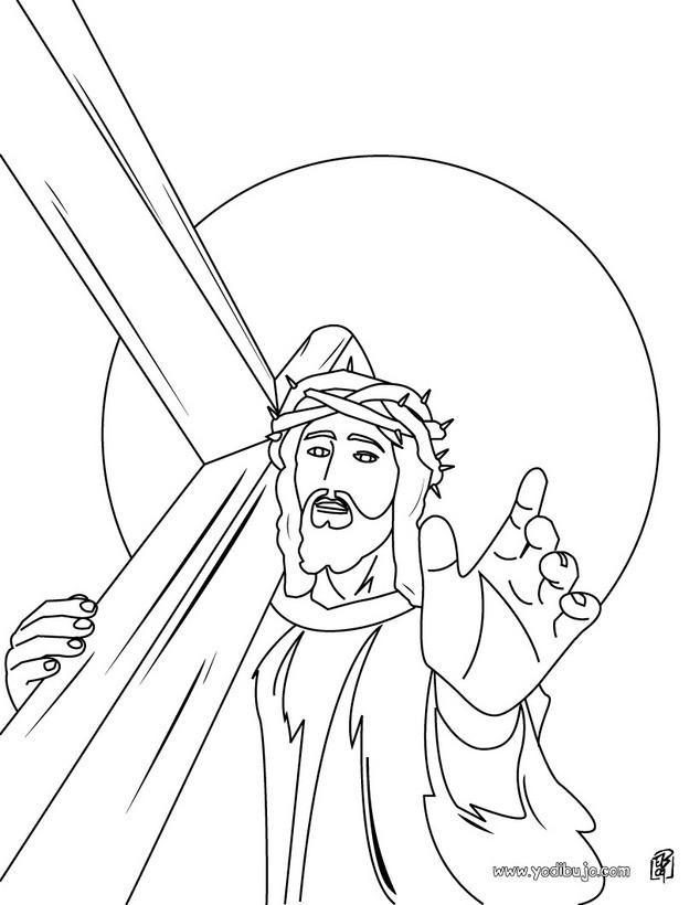 Dibujo para colorear : Jesús coronado de espinas