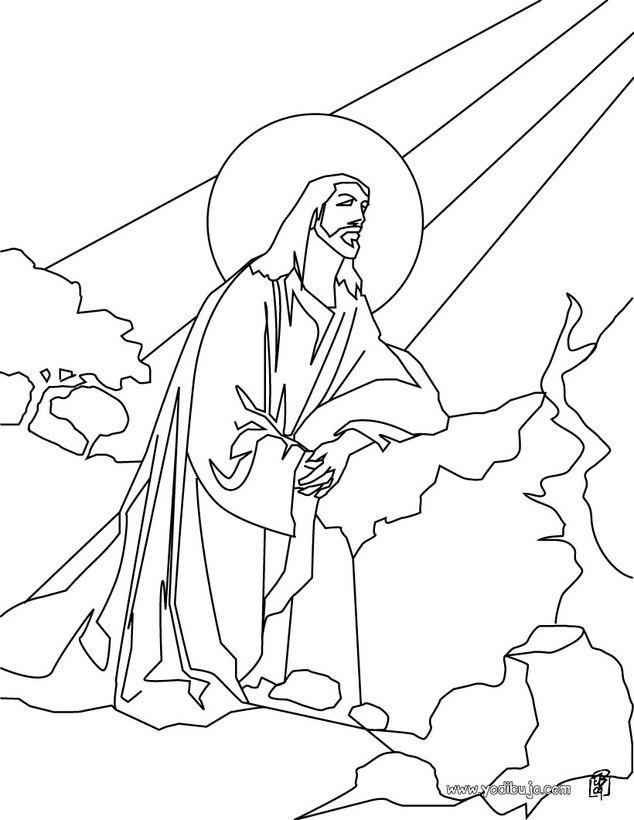 Dibujos para colorear jesús en el monte de los olivos - es.hellokids.com